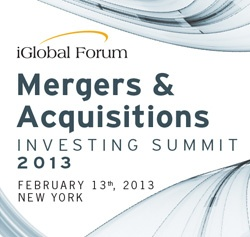 Mergers & Acquisitions Investing Summit 2013